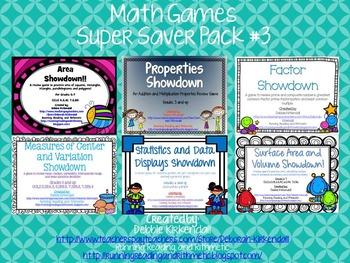 Math Games Super Saver Pack #3