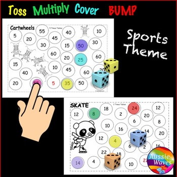 Math Games Learning MULTIPLICATION TIMES TABLES Roll Cover Bump Games