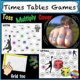 Math Games  TIMES TABLES Roll Cover Bump Games MULTIPLICATION