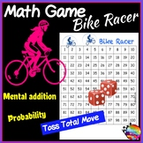 Math Center Games Teach ADDITION and PROBABILITY Dice Game on 100 square