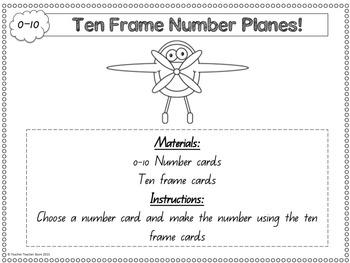 Math Games Ten Frame Number Planes 0-100 Number Knowledge K-1