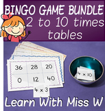 Times table bingo game pack - 2 to 10