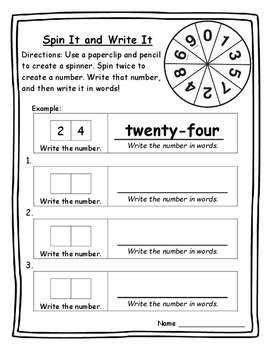Math Games Two-Digit Numbers Standard Form and Word Form Math Game 2nd Math