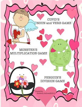 Valentine's Day Math and Literacy Games! Early Finishers +