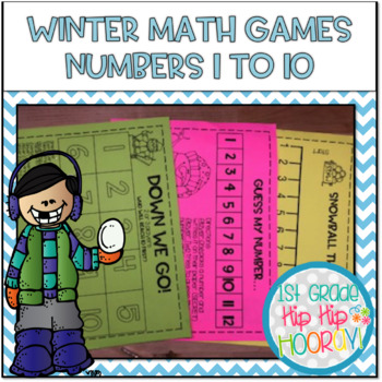 Math Games...Winter Themed...Numbers 1 to 10!