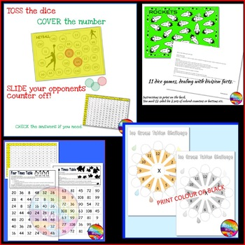 Times Tables Math Games and Activities Multiplication BUNDLE