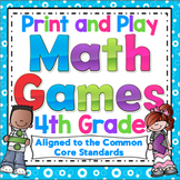 4th Grade Math Games: 4th Grade Print and Play Math Games and Centers