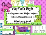 Math Games and Math Centers: Beginning Number Concepts 1-10 {Cats and Dogs}