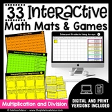 Math Games and Math Mats - Multiplication and Division - D