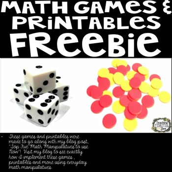 Math Games and Printables Freebie