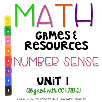 Math Games and Resources for the Primary Classroom Unit 1 Number Sense