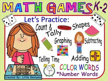 Grade One Math Games~ A Bundle of Hands-On Fun