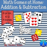Math Games for Home: Addition & Subtraction (Distance Learning)