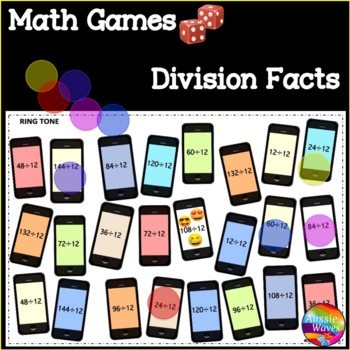 Math Games BUMP Games Learning Division Facts TIMES TABLES Math Center Activity