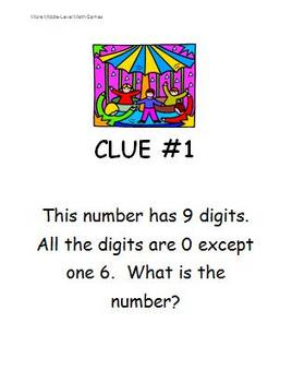 Math Games for Middle School 2