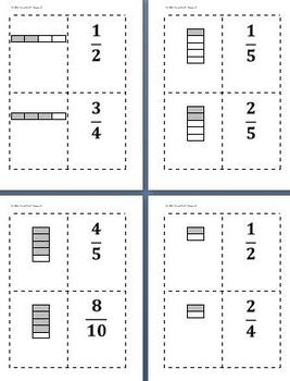 Math Games for Middle School 2 - Go Fraction!  (Equivalent Fractions)