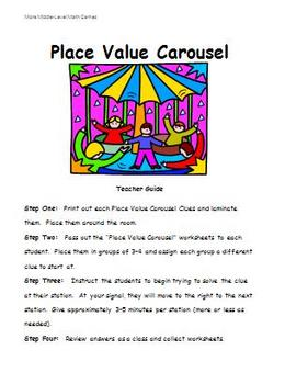 Math Games for Middle School 2 - Place Value Carousel (Place Value)