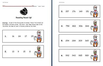 Math Games for Middle School - Rounding Round-Up