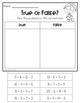 Just the Basics: 1st Grade Math Printables