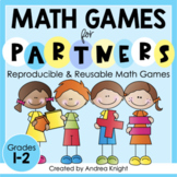 Math Games for Grades 1-2 (Low-Prep Reusable Games for Partners)