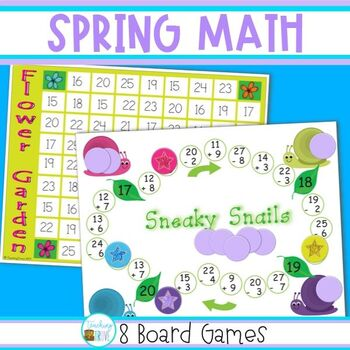 Math Games for Spring - Grade 2
