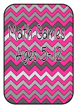Math Games for Warm Ups and/or Math Centers