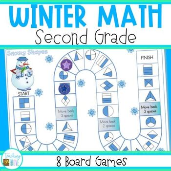 Math Games for Winter - Grade 2