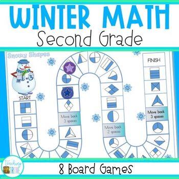 Math Games for Winter - Grade 2