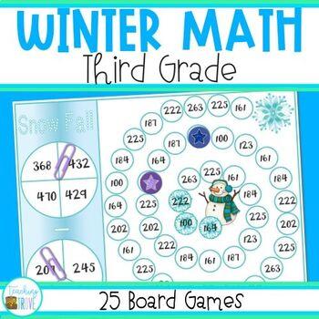 Math Games for Winter - Grade 3