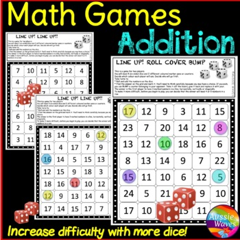 Math Games Teach ADDITION **Math Centers  *Different Levels of Difficulty