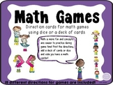 Math Games using Cards or Dice