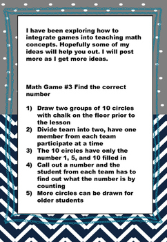 Math Games with your Body #3 - Addition (Counting up by 1) Elementary Math