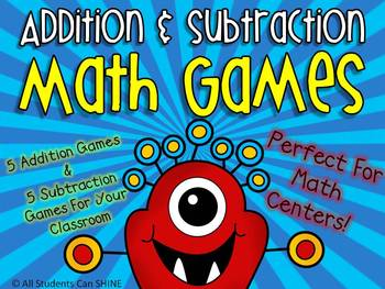 Math Games/Centers - Addition & Subtraction