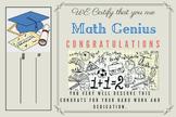 Math Genius Certificate - Template 2