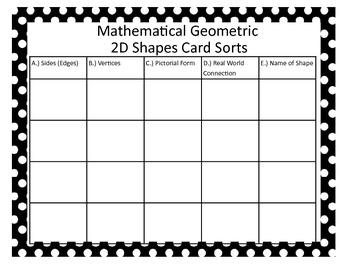 Math Geo Sorts 2D Shapes - Combo!!