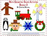 Math Geometric 2D Shape Activities Bundle 3