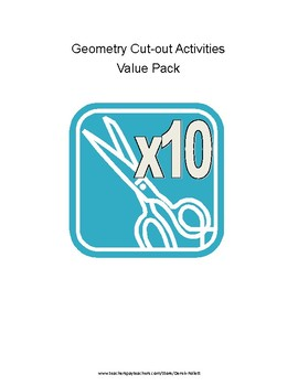 Math: Geometry Cut-out Activity Value Pack (Includes 10 activities!)