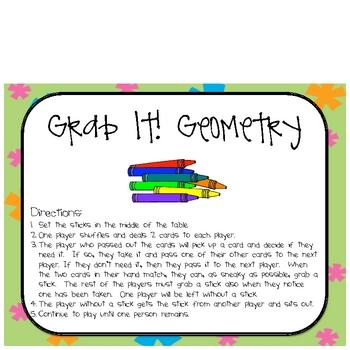Math Geometry Grab It! Center