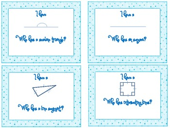 "Math Geometry ""I have, who has?"" card game"