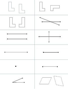 Math Geometry Interactive Vocabulary Cards Game Activity VA SOL