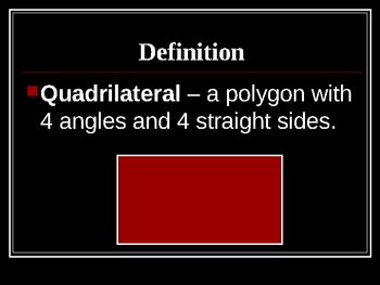 Math Geometry Quadrilateral shape PowerPoint lesson and quiz