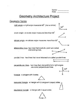 Math Geometry Simple Project with definitions