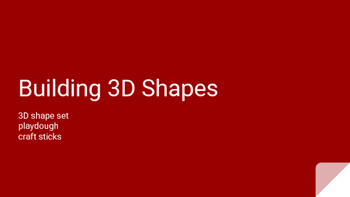 Math Geometry Station - Building 3D Shapes