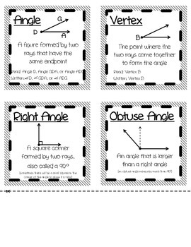 Math Geometry Term Reference Book (Foldable)