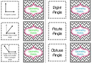 Math: Geometry Term Matching Game (Common Core Aligned)