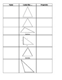 Math-Geometry-Triangle Notes, Practice, Exit Ticket - 6th Grade