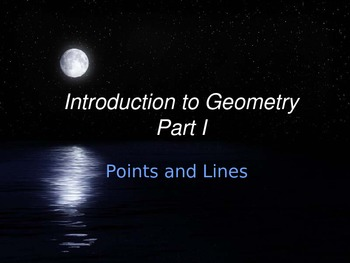 Math Geometry Vocabulary - Points and Lines PPT with Final Review