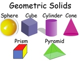 Math Geometry Vocabulary Posters