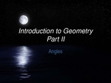 Math Geometry Vocabulary - Types of Angles PPT with Review Page