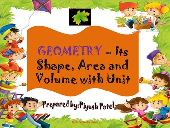 Math - Geometry shape, Name, Formula and Units...